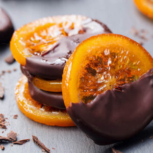 Pomaranča v temni čokoladi